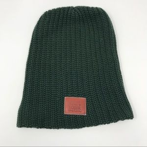 Love Your Melon Classic Beanie Hat Green Cozy Knit